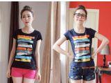 2014夏装新款 哥弟阿玛施女装专柜正品韩版显瘦短袖T恤女