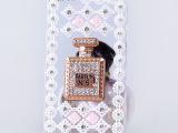 新款 贴钻香水瓶iphone5s水钻手机壳 iPhone4s镶钻