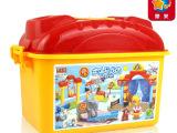 【惠美正品】儿童益智拼装积木玩具 兼容乐高 桶装大颗粒HM167
