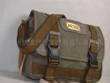 生产批发 加厚帆布电脑包 旅行包 单肩包 公文包 帆布的包包