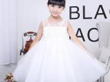 美其朵外贸婚礼花童白色儿童公主婚纱裙 女童表演主持蓬蓬礼服裙