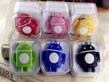 厂家直销安卓机器人MP3 插卡夹子MP3 MP3随身听批发 礼品