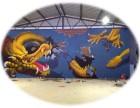 济南美丽乡村 章丘文化墙 济南墙绘公司 商河手绘墙 3D墙绘