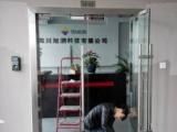 成都市自動門維修 門禁 感應玻璃門維修 配遙控器和后備電池