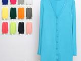 批发外贸大码开衫 女士春夏莫代尔针织衫 女中长款防晒衫 外套