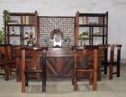 厂家直销老船木家具茶桌椅组合图片船木茶桌批发复古小茶台