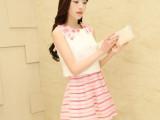 高端品质2014韩版新款连衣裙甜美雪纺欧根纱蛋糕裙两件套女