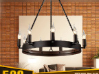 米罗兰 美式乡村武士复古工业餐厅灯吧台灯 欧式客厅大吊灯 灯具