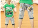 卡哇伊X童装厂家直批夏新款韩版 男童五分裤牛仔裤中裤 童短裤