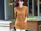 新款短款毛衣长袖外套女装套头冬季女士打底衫女秋冬针织衫