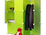 便携式折叠组合柜 DIY创意魔片组合衣柜 PP**组合板简易衣橱