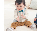 千趣会童装秋款新品 男女宝宝纯棉假两件哈衣蝴蝶结长袖连身衣