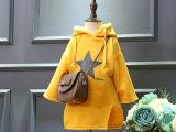 可瑞思 潮韩版女童冬款连帽时尚星星中长款