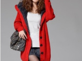 2012秋冬新款韩版 加长版加绒内里加厚长款 毛衣外套