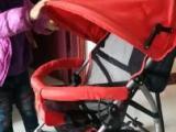 小龙哈彼牌折叠手推童车,电动车儿童固定座转让