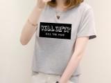 女装时尚印花休闲短袖T恤