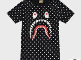 2014新款夏季韩版修身男士t桖 迷彩鲨鱼t恤男短袖纯棉潮牌男女