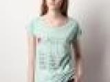 2013夏季外贸T恤新款 欧美原单 超萌四只小猫可爱印花全棉女式