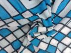 2015新款长丝氨纶汗布印花格子条纹氨纶面料服装涤氨印花汗布批发