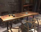 厂批南美胡桃木乌金木办公桌餐桌新中式实木家具