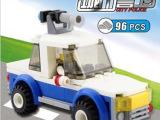 厂家直销 城市警卫系列塑料玩具 乐高式儿童益智拼插积木 2000