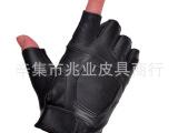 半指皮手套 男士韩版露指真皮手套 半截机车手套秋冬薄