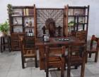 茶桌椅组合实木家具茶桌椅仿古功夫泡茶桌简约茶几老船木茶桌组合