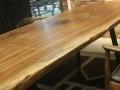 乌金木实木大板桌简约风格书桌客厅书房家具办公桌电脑桌定制批发