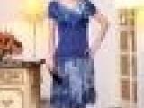 漫璐亚迪自然秀雅风格大码妈妈装婚礼短袖天丝职业女套裙装13A81