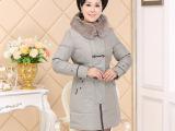 敬福妈妈2014冬装新款高雅时尚气质大牌羽绒服中老年女装妈妈装
