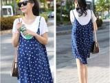 2014孕妇装韩版时尚新款夏装波点两件套孕妇裙爆款孕妇连衣裙8898