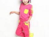 2014春秋款女孩女童运动两件套装 2014年新款 厂家直销 一