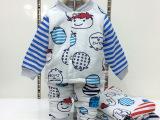 邦米小熊童装 卡通加厚宝宝家居服套装 小童加厚套装