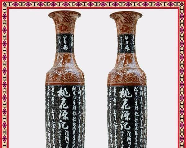 景德镇陶瓷器大师手绘青花梅兰竹菊落地大花瓶中式客厅