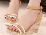 2014春季新款外贸罗马鞋韩版超高跟坡跟女凉鞋 xyuan718