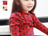 女童波点T恤 2013年秋冬季韩国热销品牌打底衫 童装品质工厂直