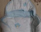 婴儿、新生儿纯棉抱被(浅蓝)