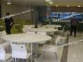 防火板快餐桌椅,圆形餐桌椅,四川发泰快餐店桌椅厂