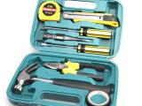 9件套五金工具箱带锤 活动礼品汽车用组套工具 家用组合工具套装