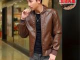 冬季新款休闲男士外套加绒男式皮衣皮夹克免费批发代理一件代发