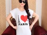6元夏装女装新款韩版蝙蝠中长款大码宽松打底衫棉短袖T恤