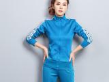 2015春秋新款女式卫衣套装简约修身休闲运动卫衣卫裤两件套女套装