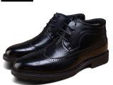 代理加盟加工冬季欧美男式靴子英伦复古保暖短靴低筒微信网店代发
