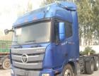 二手欧曼gtl拖头重卡货车二拖三13米拖板车