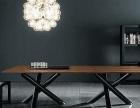 直销铁艺餐桌椅咖啡厅创意桌椅酒店实木餐桌椅组合复古办公桌