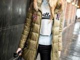 2014新款冬装欧洲站大毛领欧美白鹅绒羽绒服女装羽绒衣修身外套潮