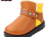童鞋韩版雪地防水保暖加绒女童宝宝加绒保暖批发厂家直销一件待发