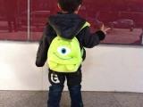 现货新款大眼仔 怪兽大学儿童毛绒书包双肩背包 幼儿宝宝小书包