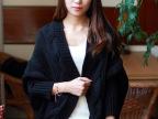 2014新款秋装韩版SZ蝙蝠衫麻花加粗毛线开衫针织衫宽松毛衣女外套