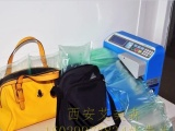 网购物流发货专用气垫机,气泡膜机,气泡垫充气机,西安缓冲气垫膜